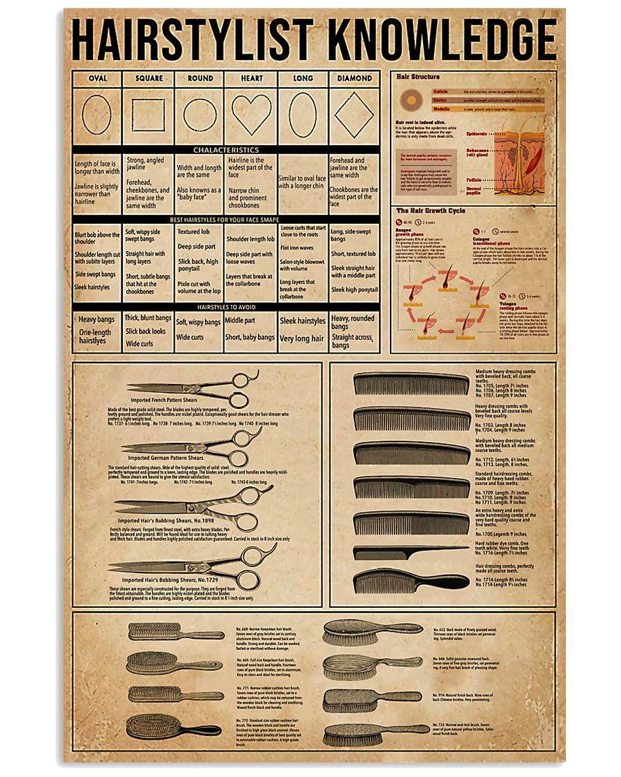 Hairstylist Knowledge  11x17 Poster