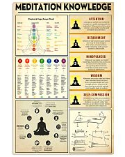 Yoga Meditation Knowledge 11x17 Poster front