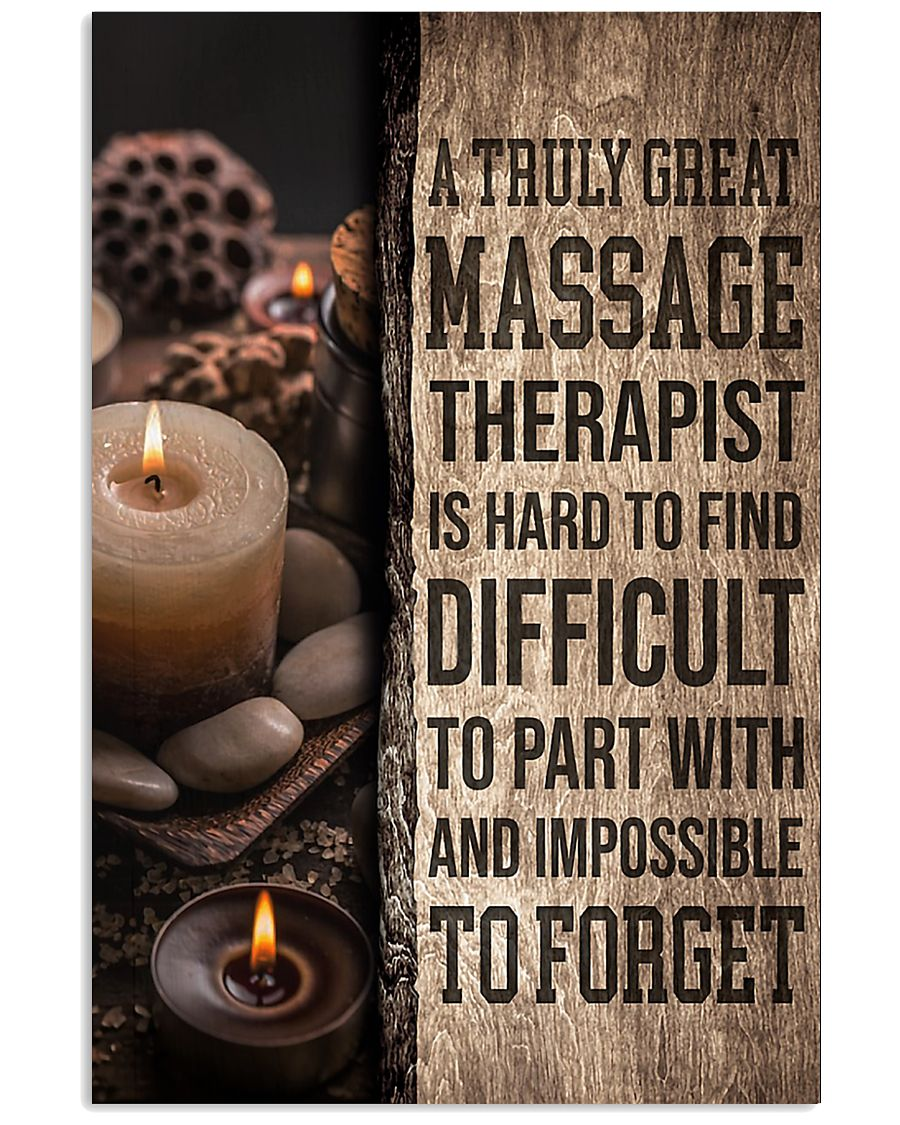 Massage Therapist A truly great massage therapist  11x17 Poster
