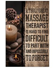 Massage Therapist A truly great massage therapist  11x17 Poster front