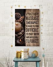 Massage Therapist A truly great massage therapist  11x17 Poster lifestyle-holiday-poster-3