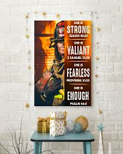 Firefighter She Is Strong 16x24 Poster lifestyle-holiday-poster-3