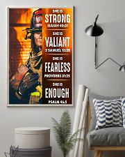 Firefighter She Is Strong 16x24 Poster lifestyle-poster-1