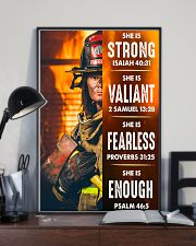 Firefighter She Is Strong 16x24 Poster lifestyle-poster-2
