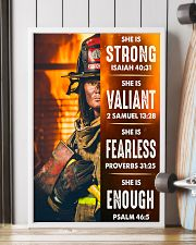 Firefighter She Is Strong 16x24 Poster lifestyle-poster-4