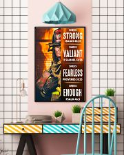 Firefighter She Is Strong 16x24 Poster lifestyle-poster-6