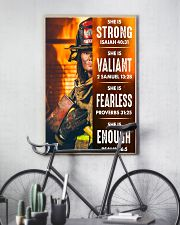 Firefighter She Is Strong 16x24 Poster lifestyle-poster-7