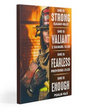 Firefighter She Is Strong 20x30 Gallery Wrapped Canvas Prints thumbnail