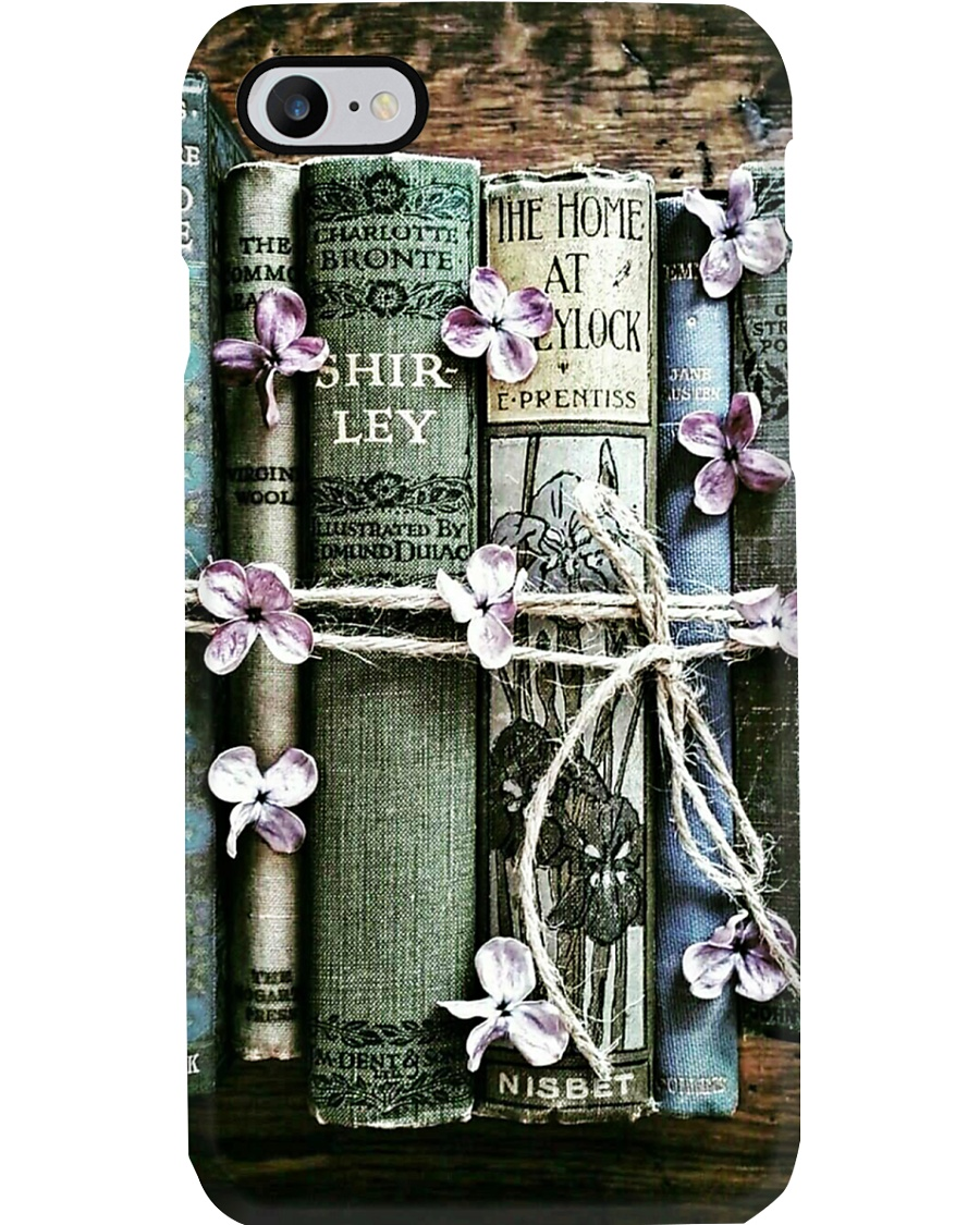 Book Lovers Vintage Flower Books Phone Case