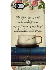 Librarian A Balanced Life With Coffee And Books Phone Case i-phone-7-case