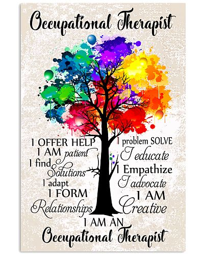 Occupational Therapist Colorful Tree