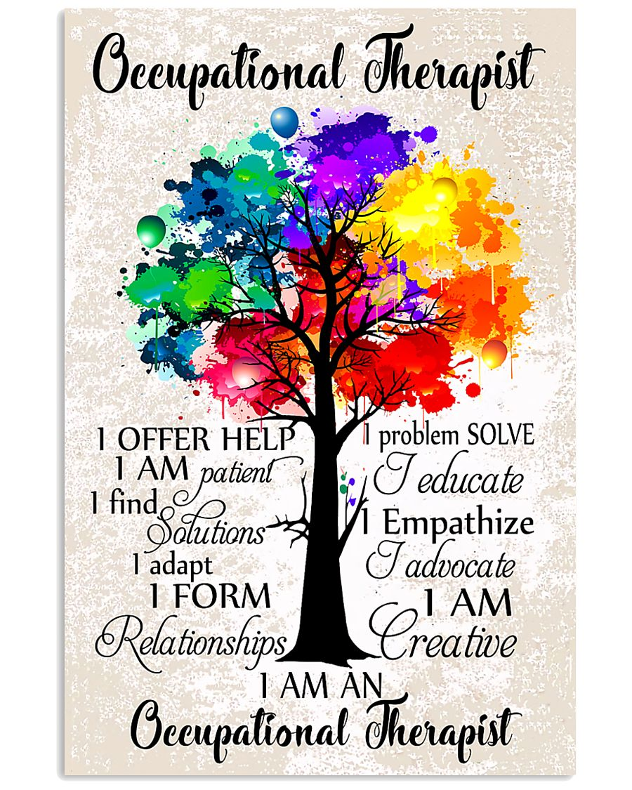 Occupational Therapist Colorful Tree 11x17 Poster