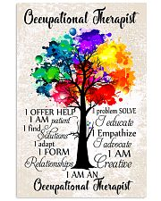 Occupational Therapist Colorful Tree 11x17 Poster front