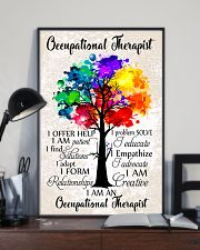 Occupational Therapist Colorful Tree 11x17 Poster lifestyle-poster-2