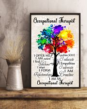 Occupational Therapist Colorful Tree 11x17 Poster lifestyle-poster-3