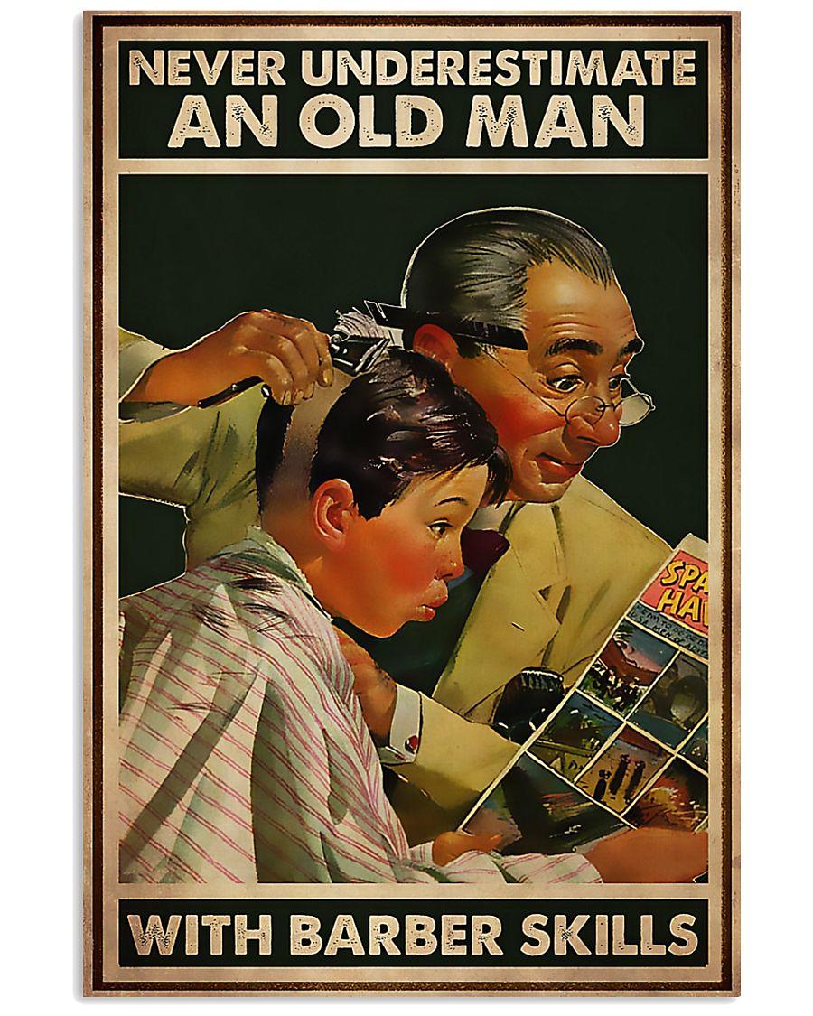 Hairdresser Old Man With Barber Skills 11x17 Poster