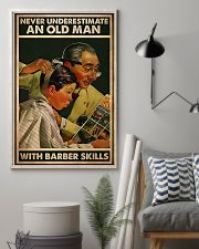 Hairdresser Old Man With Barber Skills 11x17 Poster lifestyle-poster-1