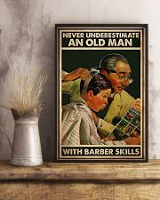 Hairdresser Old Man With Barber Skills 11x17 Poster lifestyle-poster-3