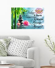 Massage Therapist Today It Hurts Tomorrow It Works 24x16 Poster poster-landscape-24x16-lifestyle-01