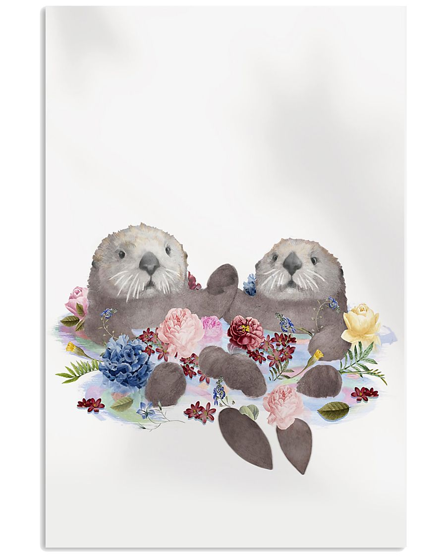 Otter Holding Hands Poster 16x24 Poster