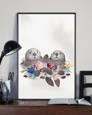 Otter Holding Hands Poster 16x24 Poster lifestyle-poster-2