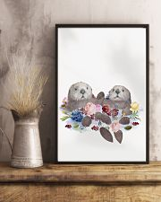 Otter Holding Hands Poster 16x24 Poster lifestyle-poster-3