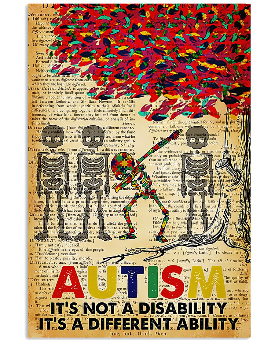 Autism It's A Different Ability 11x17 Poster