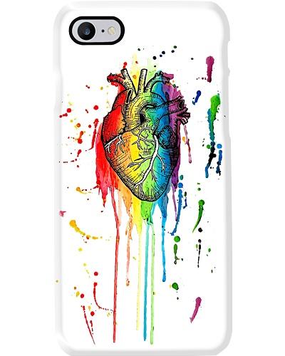 Paramedic Watercolor And Pen Rainbow Heart