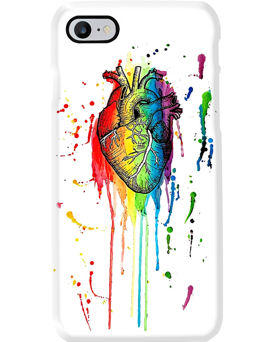 Paramedic Watercolor And Pen Rainbow Heart Phone Case
