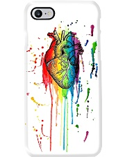 Paramedic Watercolor And Pen Rainbow Heart Phone Case i-phone-7-case