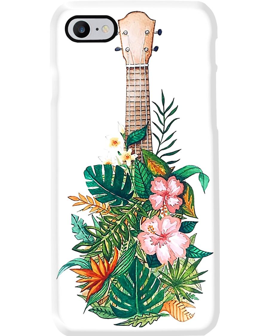 Ukulele With Tropical Flower Phone Case