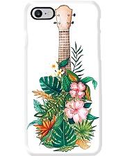 Ukulele With Tropical Flower Phone Case i-phone-7-case