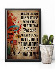 Drummer What you've got to do is say 'watch me' 11x17 Poster lifestyle-poster-8