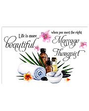Massage Therapist Life is more beautiful 17x11 Poster front