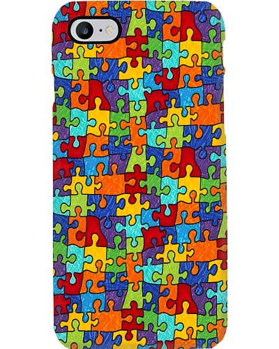 Autism Awareness Colorful Puzzle
