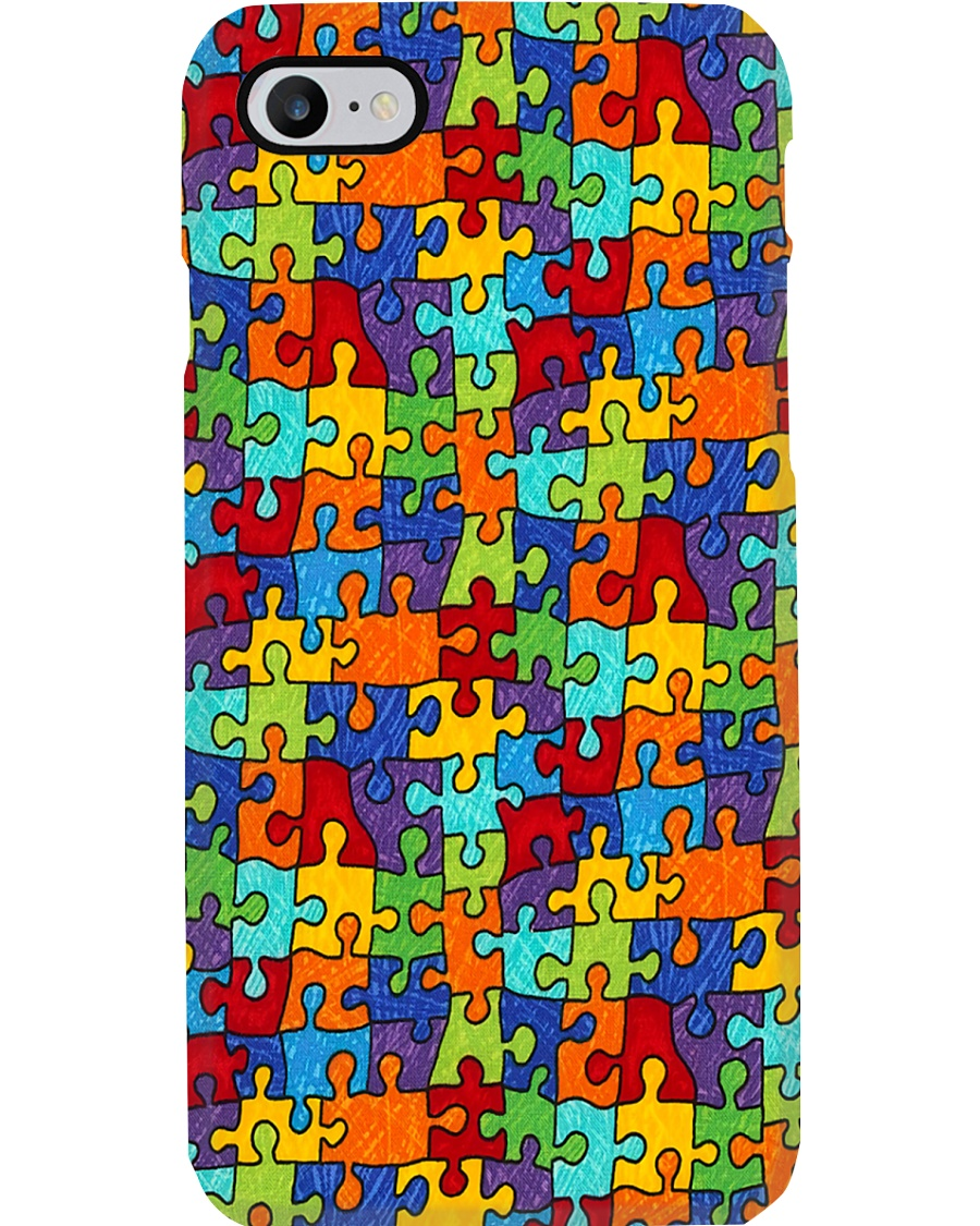 Autism Awareness Colorful Puzzle Phone Case