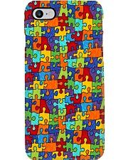 Autism Awareness Colorful Puzzle Phone Case i-phone-8-case