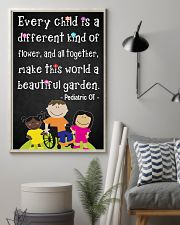 OT Pediatric Every Child Is A Different Of Flower 11x17 Poster lifestyle-poster-1