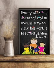 OT Pediatric Every Child Is A Different Of Flower 11x17 Poster lifestyle-poster-3