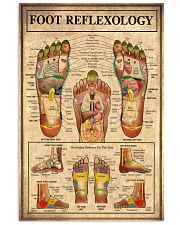 Massage Therapist Foot Reflexology  11x17 Poster front