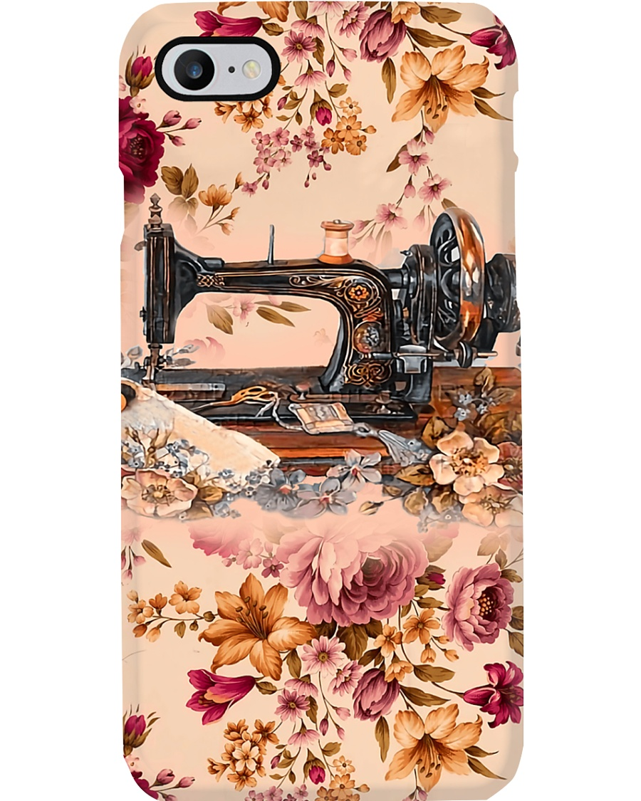 Sewing Machine And Vintage Flower Phone Case