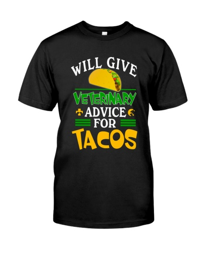 Veterinarian will give veterinary advice for tacos