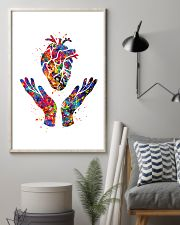 Cardiologist Heart Health Watercolor 11x17 Poster lifestyle-poster-1
