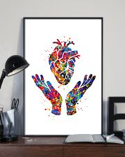 Cardiologist Heart Health Watercolor 11x17 Poster lifestyle-poster-2