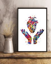 Cardiologist Heart Health Watercolor 11x17 Poster lifestyle-poster-3