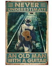 Never Underestimate An Old Man With A Guitar 11x17 Poster front