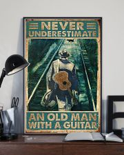 Never Underestimate An Old Man With A Guitar 11x17 Poster lifestyle-poster-2