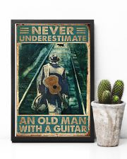 Never Underestimate An Old Man With A Guitar 11x17 Poster lifestyle-poster-8