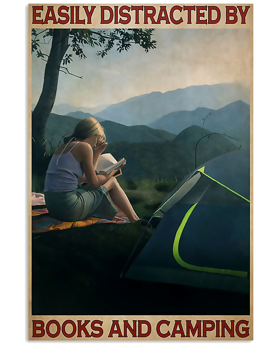 Camping And Books  11x17 Poster