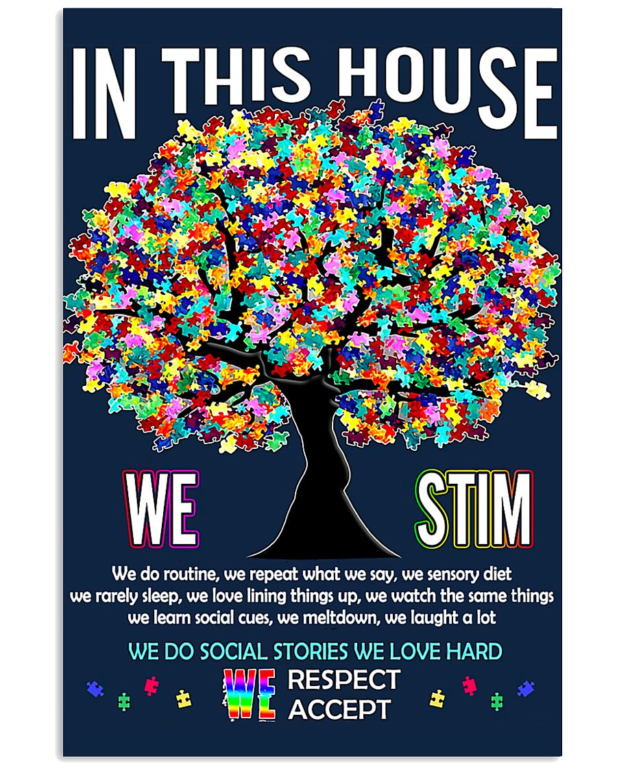 Autism awareness in this house 11x17 Poster